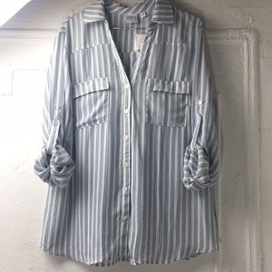 New York and company slouchy button up